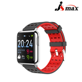 JSmax SW-V5 AI人工智能健康管理手錶(即時動態監測)黑色+紅錶帶