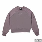 NIKE 女圓領T(長) AS W NSW SWSH CREW FT口袋 藕紫-CZ8891531