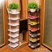 鞋架多層簡易現代簡約經濟型家用客廳省空間多功能收納鐵藝鞋柜子花間公主igo