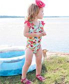 美國Rufflebutts-繽紛花朵連身泳裝
