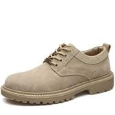 大頭鞋 馬丁鞋男秋季透氣英倫大頭工裝皮鞋低筒靴子正韓潮流鞋子潮鞋 免運費