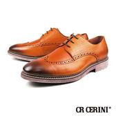 【CR CERINI】時尚軟皮雕花造型德比紳士鞋  咖啡(91513-BR)