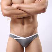 男內褲 情趣用品 超低腰高叉露毛性感三角褲(灰色)L號『包裝隱密』490免運
