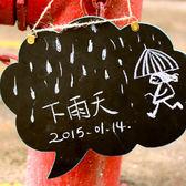 ✭慢思行✭【N44-2】懸掛式雲朵雙面黑板 迷你 粉筆 板擦 記事 兒童 塗鴉  辦公室
