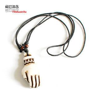佛手黑繩男款藏飾骨墜項鏈