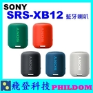 現貨免運 SONY SRS-XB12 SRSXB12藍牙喇叭 台灣公司貨 防水防塵 XB12防水喇叭 另有XB21 XB41可參考