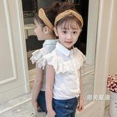 一件免運-短袖襯衫女童襯衫短袖夏季中大童上衣洋氣女寶寶童裝2018新品夏裝兒童襯衣