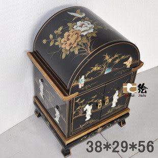 新古典 古 金箔手繪 特色小箱子 裝飾鳥窩 巢