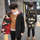 童裝男童棉衣外套2018新款兒童冬裝加厚棉襖中長款學生棉服兩面穿