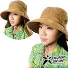 PolarStar 抗UV遮頸帽『深卡其』P16505 抗UV帽│登山帽│工作帽│遮陽帽│釣魚帽│防曬帽│圓盤帽