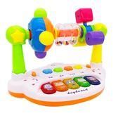 兒童0-1-2-3-6歲玩具男孩5女孩4寶寶嬰兒6-12個月益智帶燈光音樂7   IGO