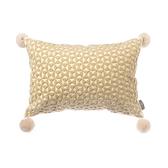 HOLA 現代風小三角繡花抱枕30x45cm米黃