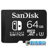 【公司貨,免運】 SanDisk microSDXC 64GB for Nintendo Switch 專用記憶卡(SDSQXAT-064G,U3,終身保固) 64g