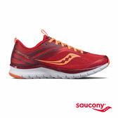 SAUCONY LITEFORM MILES 輕運動休閒鞋-艷紅x橘