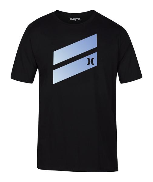 Hurley  M PRM ICON SLASH GRADIENT TEE BLACK/(BLUE)  T恤-(男)