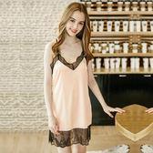 新款性感睡裙 女士夏季純色花邊吊帶家居服《小師妹》yf756