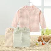 新生嬰兒春秋夏上衣棉質0-1歲3男寶寶內衣服6個月打底開衫秋衣(1件免運)
