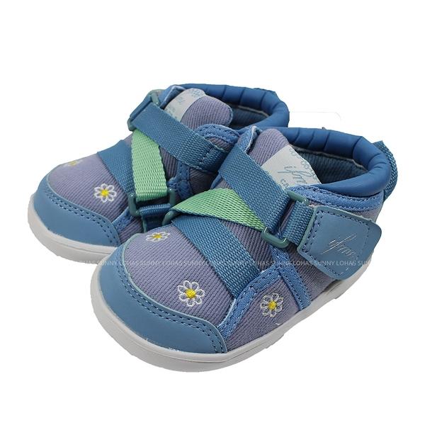 (B8) IFME 日本機能童鞋 萌娃 Light 護踝 超Q底 學步鞋 IF20-081102 藍 [陽光樂活]