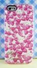 【震撼精品百貨】Hello Kitty 凱蒂貓~HELLO KITTY iPhone5手機軟殼-粉蝴蝶結