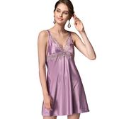 思薇爾-香榭巴黎系列連身蕾絲性感小夜衣(莫蘭紫)