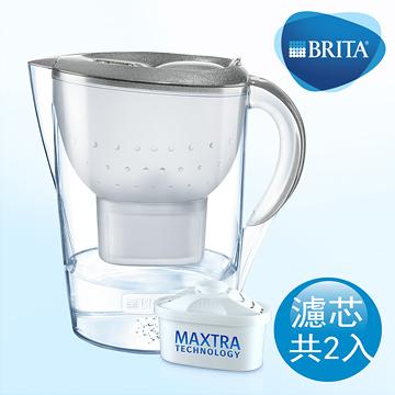 [淨園] 德國BRITA 馬利拉3.5L星燦濾水壺+1支濾芯-銀色【本組合共2芯】