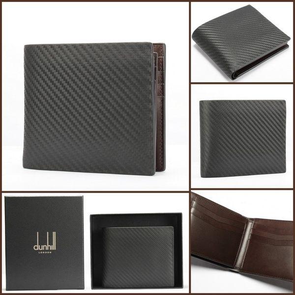 dunhill Chassis Billfold 碳纖維皮革短夾(黑)257375