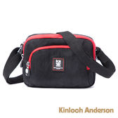 金安德森 極簡耀色 防潑水多功能方型側背包 低調黑紅