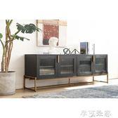 電視櫃電視櫃現代簡約客廳設計師輕奢家具電視櫃後現代茶幾電視櫃組合 igo摩可美家