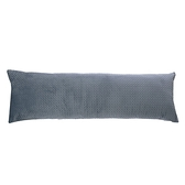 HOLA 舒柔線段绗縫長抱枕40x120cm-方格天藍