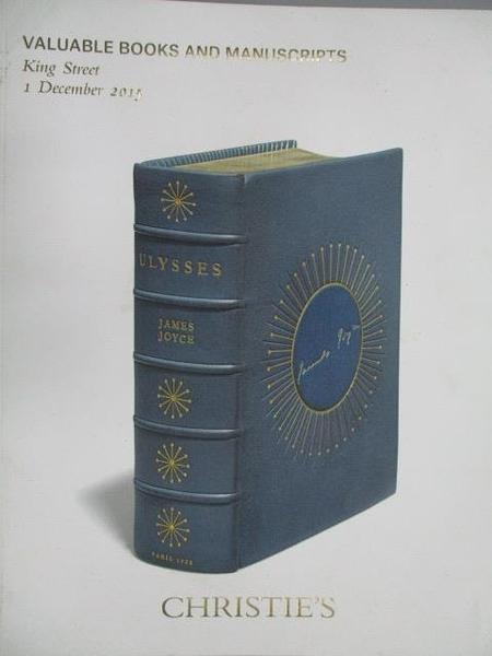 【書寶二手書T6/收藏_ZKS】Christie s_Valuable Books and…2015/12/1