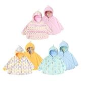 Augelute Baby童衣 可愛印花雙面可穿寶寶連帽披風 60324