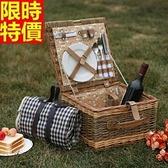 野餐籃 餐具組合-二人份戶外踏青收納郊遊用品68e44【時尚巴黎】
