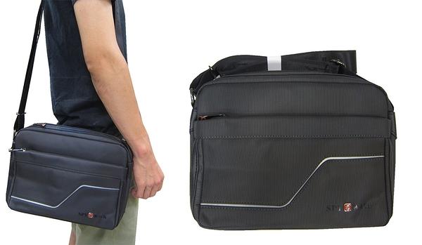 ~雪黛屋~SPYWALK 斜側包小容量二層主袋+外袋共四層8吋平板進口防水尼龍布材質肩背斜側背SD1878
