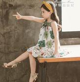 兒童夏裝女童裙子寶寶純棉背心裙中大童連身裙透氣洋氣童裙公主裙 麥琪精品屋