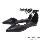 Tino Bellini 波浪藝術抽象圖紋尖楦坡跟平底鞋 _ 黑 B83268