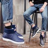 雨鞋男冬季加絨棉保暖防水鞋短筒廚房鞋防滑低筒雨靴釣魚膠鞋套鞋 多色小屋