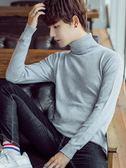 打底毛衣 秋冬季男士高領毛衣修身韓版套頭純色針織衫打底衫線衫男學生潮 珍妮寶貝