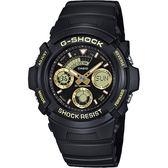 CASIO 卡西歐G-SHOCK 賽車運動手錶-金x黑 AW-591GBX-1A9DR