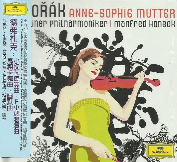 慕特 德弗札克小提琴協奏曲 F小調浪漫曲 馬祖卡舞曲 幽默曲 CD附