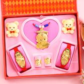 金寶珍銀樓-科技博士-彌月金飾音樂禮盒(0.30錢)