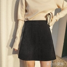 包臀短裙 燈芯絨半身短裙女高腰a字裙秋冬2021年新款寬鬆大口袋包臀一步裙 16育心館