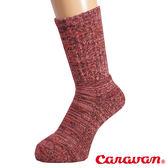 【日本 Caravan】保暖中筒厚襪『紅光』排汗襪│健行襪│吸震厚襪 │彈性襪│登山襪 0132003