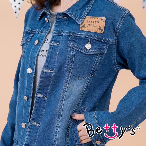 betty's貝蒂思 經典修身牛仔外套(牛仔藍)