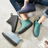 現貨 雨鞋男保暖水鞋防水防滑低幫雨靴短筒膠鞋【時尚大衣櫥】