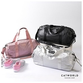 Catworld 金屬光澤分層休閒運動圓筒包【19501012】‧F
