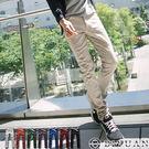 韓版剪裁彈力休閒褲【ST88038】OBI YUAN 翻蓋鈕扣窄版/工作褲共6色