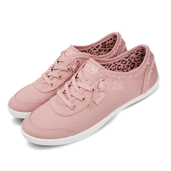 Skechers 休閒鞋 Bobs B Cute 粉紅 白 女鞋 簡約風 套入款休閒運動鞋【ACS】 33492BLSH