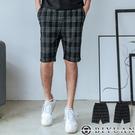 大彈力 短褲 【OBIYUAN】高質感 休閒短褲 雅痞 格紋褲 【Y305】
