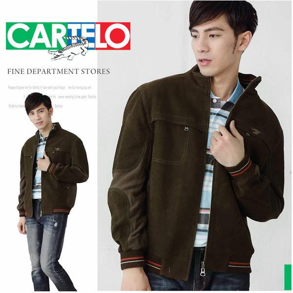 【大盤大】CARTELO 冬 男 XL號 拉鍊外套 百貨原裝 專櫃外套 立領夾克 禮物 純棉外套 情人節