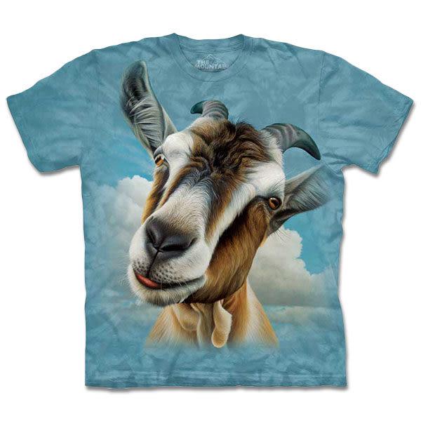【摩達客】 (預購) 美國進口【The Mountain】自然純棉系列 山羊頭 T恤(10413045122a)
